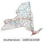 high detailed new york road map ...   Shutterstock .eps vector #1680161038