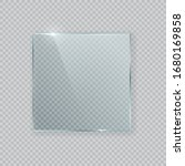 square vector glass frame.... | Shutterstock .eps vector #1680169858