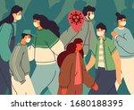 virus transmission. infected... | Shutterstock .eps vector #1680188395