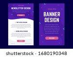 newsletter  email design... | Shutterstock .eps vector #1680190348