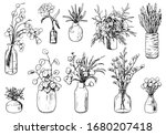 collection of varied vases ...   Shutterstock .eps vector #1680207418