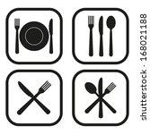 restaurant icon   four... | Shutterstock .eps vector #168021188