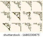 set of decorative vector corner ... | Shutterstock .eps vector #1680230875