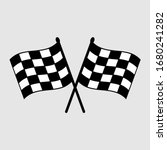 start icon. race flag icon.... | Shutterstock .eps vector #1680241282