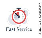 fast or slow service  delivery... | Shutterstock .eps vector #1680241432