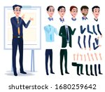 Male Business Character Vector...