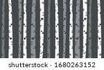 grey and white thin birch tree...   Shutterstock .eps vector #1680263152