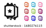 black cinema ticket icon... | Shutterstock .eps vector #1680276115