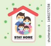 covid 19 coronavirus quarantine ... | Shutterstock .eps vector #1680277258