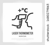 laser thermometer for detection ... | Shutterstock .eps vector #1680279865