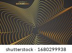 golden contours vector... | Shutterstock .eps vector #1680299938