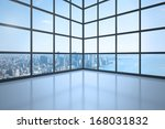 room with large window showing... | Shutterstock . vector #168031832