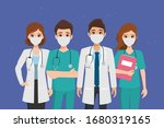 doctor who save patients from... | Shutterstock .eps vector #1680319165