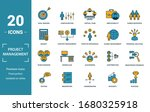 project management icon set.... | Shutterstock . vector #1680325918