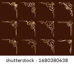 gold vintage corner frames set...   Shutterstock .eps vector #1680380638