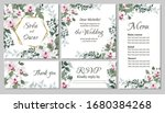 vector floral template for... | Shutterstock .eps vector #1680384268