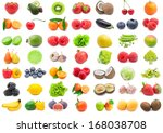 collection of various fruits... | Shutterstock . vector #168038708