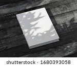 white diary mockup with... | Shutterstock . vector #1680393058