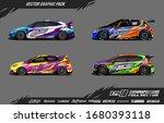 car wrap graphic design vector... | Shutterstock .eps vector #1680393118