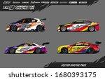 car wrap graphic design vector... | Shutterstock .eps vector #1680393175