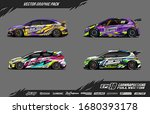 car wrap graphic design vector... | Shutterstock .eps vector #1680393178