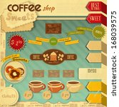 vintage design of coffee and... | Shutterstock .eps vector #168039575