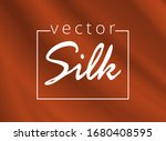 luxurious red fabric or liquid... | Shutterstock .eps vector #1680408595