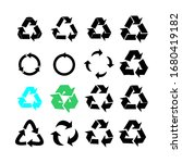 recycle icon set  vector eps10 | Shutterstock .eps vector #1680419182