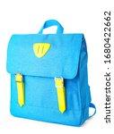 school backpack on white...   Shutterstock . vector #1680422662