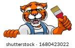 a tiger painter decorator... | Shutterstock . vector #1680423022