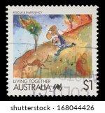australia   circa 1988  a stamp ... | Shutterstock . vector #168044426