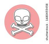 skull and bones sticker icon....