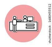ticket sale sticker icon....