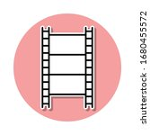 film sticker icon. simple thin...