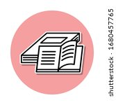 books sticker icon. simple thin ...