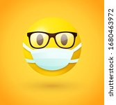 emoji with glasses wearing... | Shutterstock .eps vector #1680463972