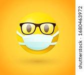 emoji with glasses wearing... | Shutterstock .eps vector #1680463972