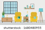 bright spacious living room...   Shutterstock .eps vector #1680480955