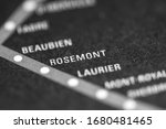 Rosemont. Montreal Metro on a map.