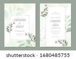 vintage simple wedding...   Shutterstock .eps vector #1680485755