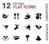 12 nature filled icons set... | Shutterstock .eps vector #1680491902