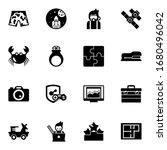 16 Graphic Filled Icons Set...
