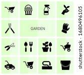 14 garden filled icons set... | Shutterstock .eps vector #1680496105