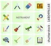 14 instrument flat icons set... | Shutterstock .eps vector #1680496168