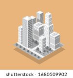 the isometric 3d city with... | Shutterstock .eps vector #1680509902