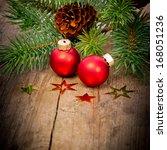 red xmas balls | Shutterstock . vector #168051236