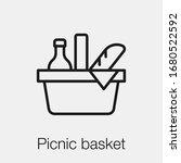 picnic basket icon vector.... | Shutterstock .eps vector #1680522592