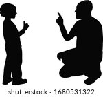 man talking with son ...   Shutterstock .eps vector #1680531322