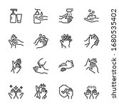 hygiene related thin icon set 7 ... | Shutterstock .eps vector #1680535402