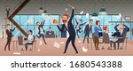 angry boss. businessman... | Shutterstock .eps vector #1680543388